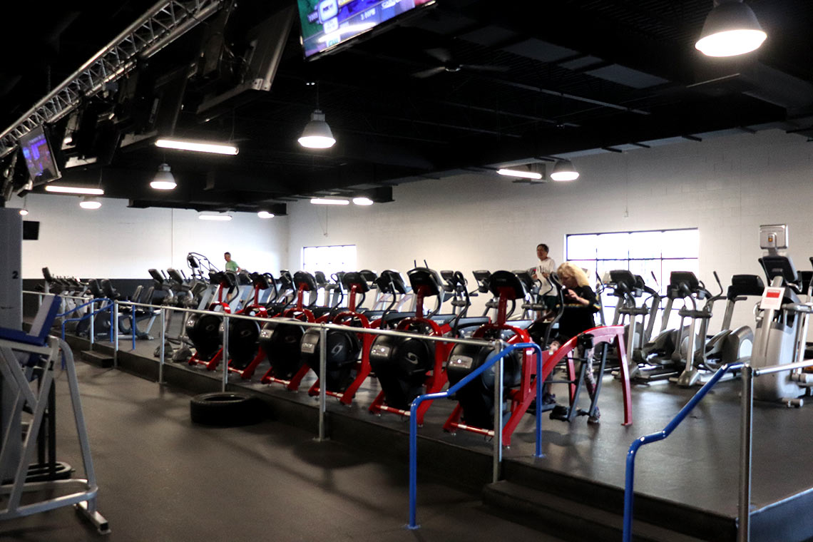 Fitness Lab facility elliptical machines and treadmills