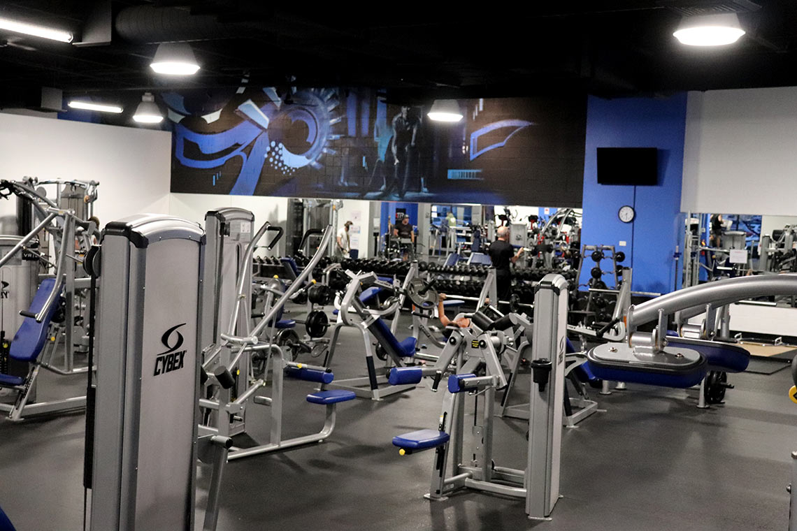 Fitness Lab facility free weights and weight lifting machines